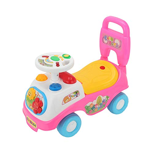 Youyijia Ride on Car 55*45*27cm Kids Musical Toy Car Toddler Walker Learning Toy(Pink)