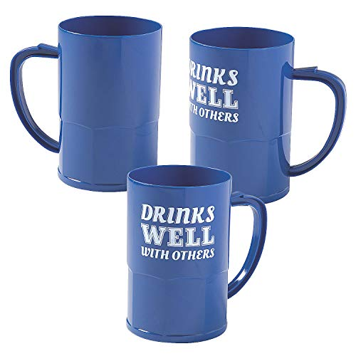 Fantastic Prices! DRINKS WELL WITH OTHERS BEER MUG - Party Supplies - 12 Pieces