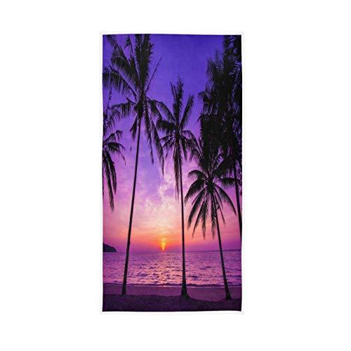 LUCKYEAH Toallas de mar tropicales para niñas mujeres niños toallas de mano de algodón suave absorbente toalla de sudor para el hogar, hotel, piscina, gimnasio, 76 x 38 cm