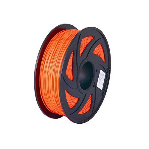 conpoir Filamento per stampante 3D PLA normale Materidi consumo di stampa ecologici Diametro 1,75 mm 1 kg (2,2 libbre) Precisione dimensionale bobina +/- 0,05 mm Arancione