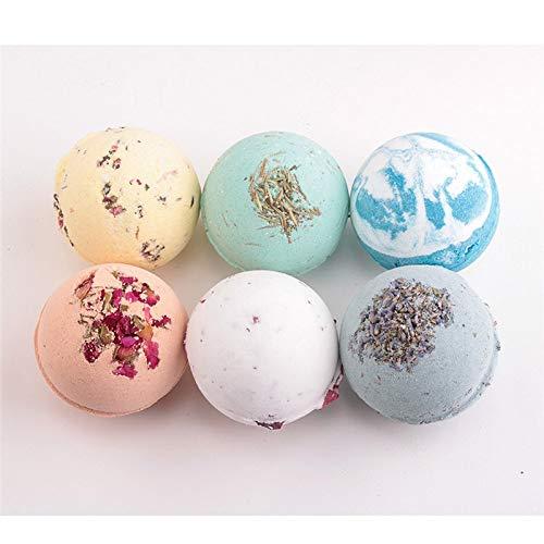 XiaoOu Organic Bath Bomb Deep Sea Bath Salt Body Essential Oil Bath Ball Natural Bubble Bath Bombs Ball Green Tea Rose Lavender Lemon Pool Salt,Rose