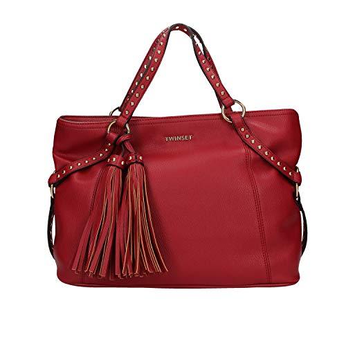Twinset borsa rossa con nappine UNI