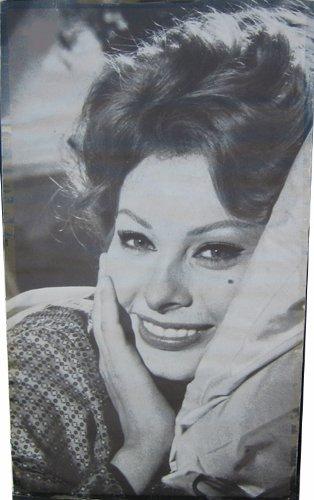 Sophia Loren Vintage 1960s B&W Movie Trilby Authentic Original Poster