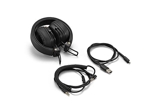 Marshall Major III Wireless Bluetooth On-Ear Headphone, Black - 6.3 x 6.3 x 3.4 inches (04092186)