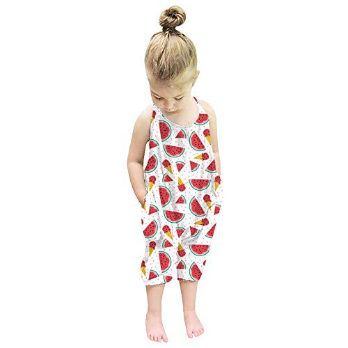 sunnymi Pelele para bebé de 1 a 6 años, sin mangas, para verano I 5-6 Años