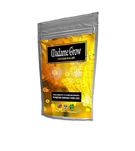 MADAME GROW Thrycho Killer - Thricodermas para Marihuana - Forma Micorrizas - Hongos beneficiosos coloniza el Suelo de tu Planta - Mejora el Rendimiento y la absorción (50 Gramos)