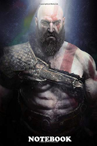 """Notebook: Kratos God Of War , Journal for Writing, College Ruled Size 6"""" x 9"""", 110 Pages"""