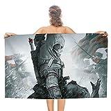 Assassin's Creed Toalla rectangular para tomar el sol Toallas de playa toalla de baño de doble cara Alfombra de picnic Manta de viaje 80x130cm