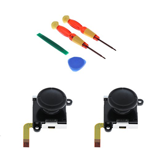 For Nintendo Switch Joy-con 2Pack Thumb Joystick Analog Joypad Rocker Sensor L/R Replacement Part with 4 in 1 Precision Opening Tool Kit Screwdrivers