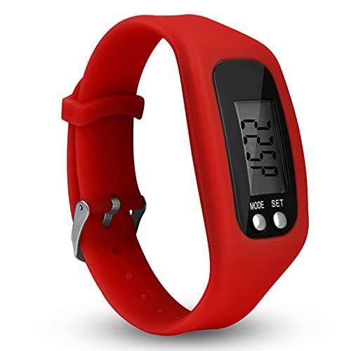 XIHUANNI Reloj podómetro de fitness, rastreador de actividad para caminar con pantalla LCD, contador de pasos digital para hombres y mujeres