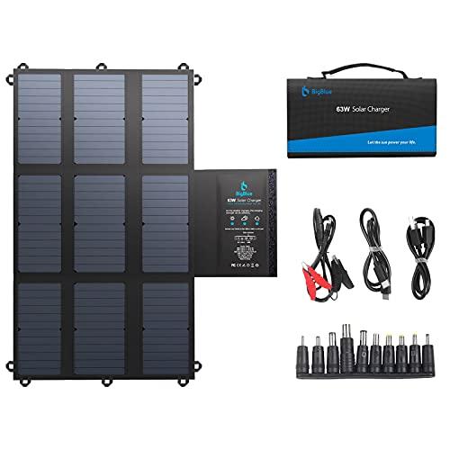 BigBlue 63W Chargeur Solaire Portable SunPower...
