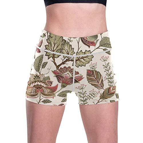 FANTAZIO Art edles Blumenmuster Damen Trainingshose Jogginghose Yogahose Radlerhose Gr. XL, 1