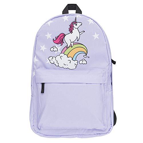 XTYZY Nuovi arrivi Zaino Unicorno Donna Stampa SchoolBags Zaini Oxford moda per ragazze unicornio