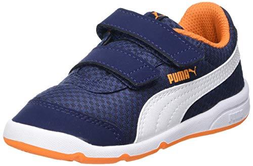 Puma Unisex Baby STEPFLEEX 2 MESH VE V INF Sneaker, Peacoat White-Vibrant Orange, 22.5 EU