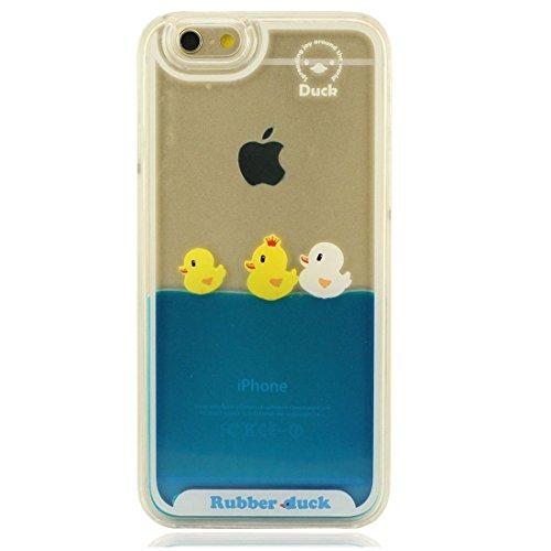 Generic Schutzhülle für iPhone 7 Hülle, 3D Enten Fließend Wasser Flüssigkeit Hard Klar Transparent Kunststoff Hülle Handyhülle für Apple iPhone 7 4.7 inch