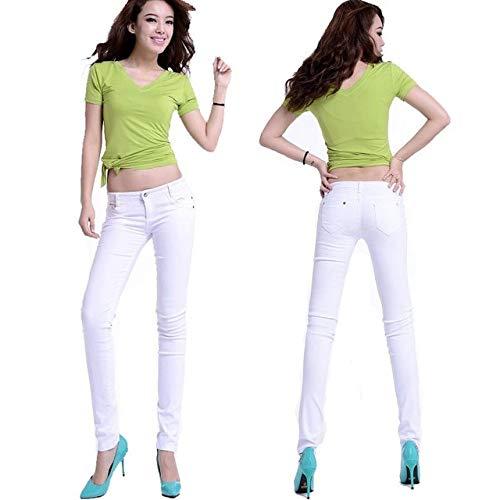 KXDNZK ZKKXDN Stretch Hoge taille Skinny Broek Voor Vrouw Winter Plus Size Leggings Joggers Vrouwen Broek Potlood Broek Vrouwelijke Broek 26 Wit