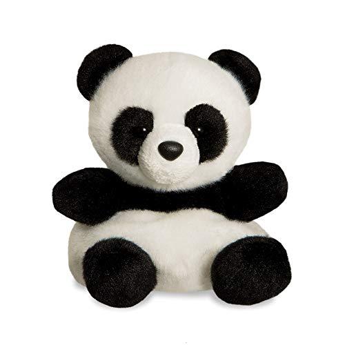 Aurora, 61350, Palm Pals, Panda in bambù, 15 cm, Peluche, Nero e Bianco