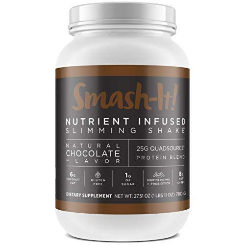 Primal Labs Smash-It! Nutrient Infused Whey Protein Powder, Keto, Gluten-Free, Low Carb Protein Shakes for Weight Loss, Meal Replacement Shakes in Delicious Chocolate Flavor, 780 Grams