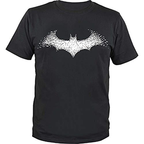 DC Comics – Herren T-Shirt Batman White Logo Gr. XXL Baumwollshirt Oberteil