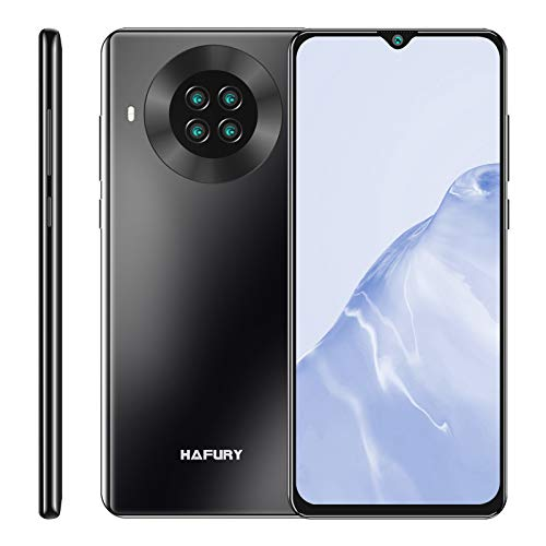 HAFURY K30 Smartphone 6.5 Pollici HD+ Display 64GB ROM 3GB RAM 4200mAh Ricarica Rapida Quad Camera Android 10 RAM Cellulare Supporto FACE ID NFC Dual SIM Nero