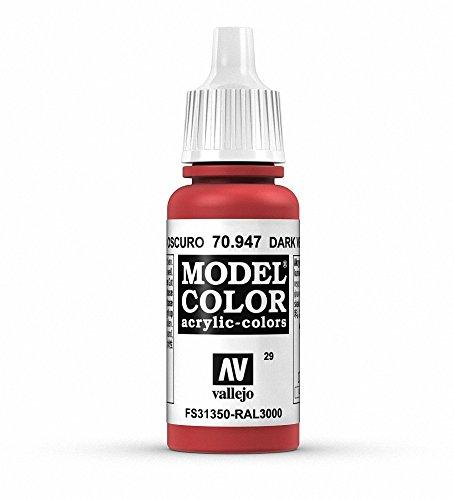 Vallejo val899 Peinture Model Color 17 ml peinture acrylique – Rouge vermillon foncé FS 31350