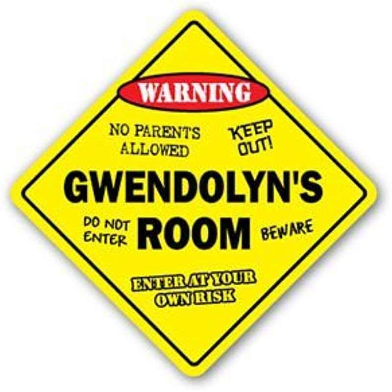 GWENDOLYN S ROOM Sticker Sign Kids Bedroom Decor Door Children S Name Boy Girl Gift Sticker Graphic Personalized Custom Sticker Graphic