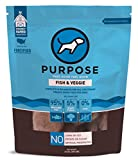 PURPOSE All-Natural Freeze Dried Wild Caught Fish and Organic Veggie Humanely Raised Dog Food 14 Ounce   Made in The USA