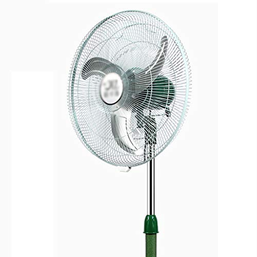 C-J-Xin Silent Electric Fan Vertical Bedroom Electric Fan Lifting Head Electric Fan Industry Potente Electric Fan Electrodomésticos (Color : Green)