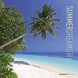 Summerdreams - Broschurkalender 2021 - Alpha-Edition-Verlag - Wandkalender mit wunderschönen Trauminseln und Platz zum Eintragen - 29,8 cm x 29,8 cm (offen 29,8 cm x 59,8 cm)