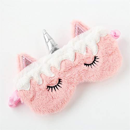 Unicornio Sleeping Eye Mask Lindo sueño Niños Cubierta de la Cortina de Ojos de Viaje de la Banda Ojo de la Historieta 3D Resto Parche Blindfolds Ojo (Color : B)
