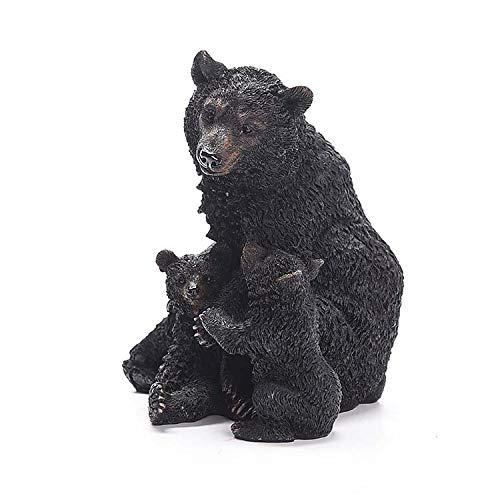Mankvis hars-dier hond beer sculptuur beeldje, hoofddecoratie tafeldecoratie dier decoratie model tuin grasmaaier hotel decoratie props
