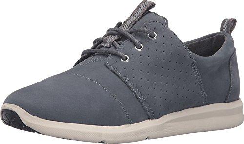 TOMS Del Rey Damen-Sneakers, Blau - Castlerock Nubukleder Grau - Größe: 36 EU