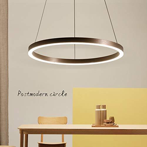 Lampadario moderno a sospensione a sospensione a sospensione a LED, soggiorno, sala da pranzo, ristorante, ristorante, lampada a sospensione (Colore : One Circle)