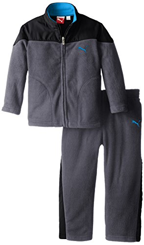 PUMA Little Boys' Curve Polar Fleece Set-Toddler, Quiet Shade, 4T
