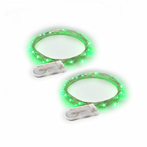 RTGS Products Green Colored LED Lights Indoor Outdoor String Lights  Fairy Lights Battery Powered Patio  Bedroom  Holiday Decor  etc.