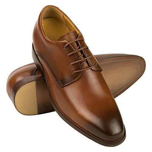 ZERIMAR Zapatos con Alzas Interiores Hombre +7 cm | Zapatos Cuero Elegantes...