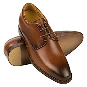 Zerimar Zapatos con Alzas Interiores Hombre con Aumento +7 cm | Zapatos Elegantes para Hombre | Zapatos de Hombre con Alza | Zapatos Hombre Casuales