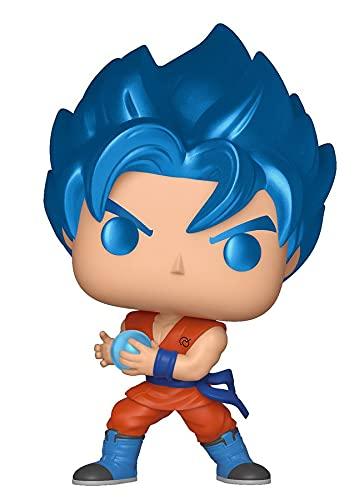 POP Funko, Figurina in vinile metallico di Goku SSGSS con onda Kamehameha, della serie Dragon Ball Super, codice: 37691, Multicolore