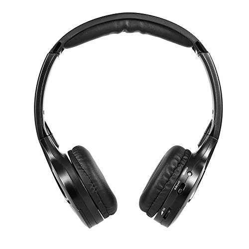 Oliwui Headset Wired Earphone Dual Channel for in-car DVD Player Infrared Car Headphone Wireless Car