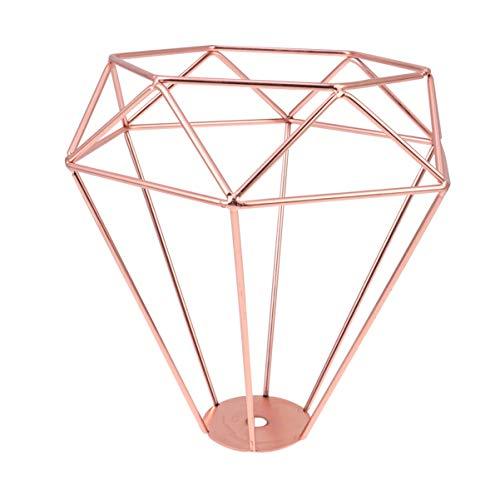 Uonlytech - Jaula de diamante, 1 unidad, protección para lámpara industrial, pantalla para festival, fiestas, restauración, cultura del hogar, color oro rosa