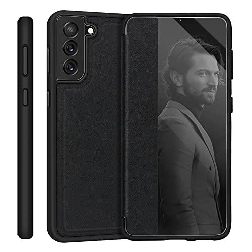 "Skycase Galaxy S21 Plus Case 6.7"", [Anti Scratch][Shock Absorption],Slim Flip Phone Case Designed with Window View Function for Samsung Galaxy S21 Plus 6.7"" 5G 2021,Black"