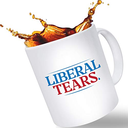 "Father's Day Gift Mugs for Dad – ""Lib Tears"" Funny Novelty Coffee Mug 