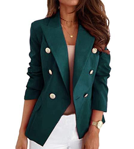 comprar Onsoyours Chaqueta Mujer Vestir Casual Elegante Básica Blazer Talla Grande Traje Manga Larga Joven A Verde L