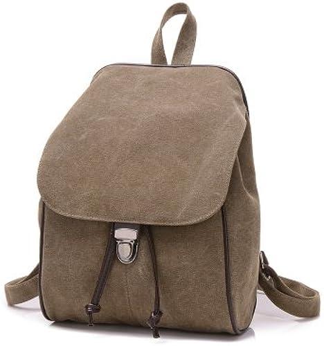 Retro Schulter Pack Lady Sports Pack College Segeltuch Pack Rucksack koreanische Edition Freizeit Pack College Schultasche, Kaffee