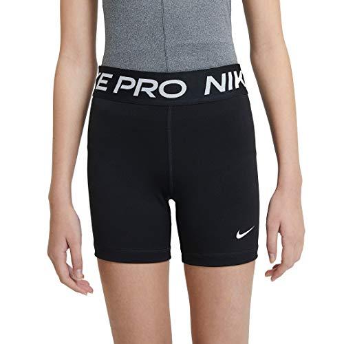 NIKE G NP 3IN Short Pantalones Cortos, Black/(White), XL para Niñas