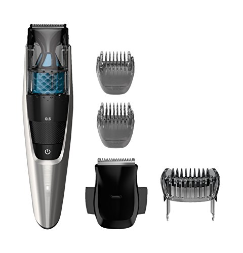 Philips Norelco Vacuum Beard Trimmer Series 7200, BT7215/49, Cordless Lithium-Ion Mustache and Beard Groomer for Men – NO BLADE OIL NEEDED