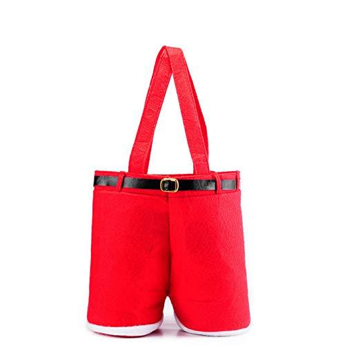 RJZF Wine Toy Candy Lolly Gift Bag, Large Christmas Xmas Santa Pants Handbag, For Xmas Holiday Party Supplies Decoration