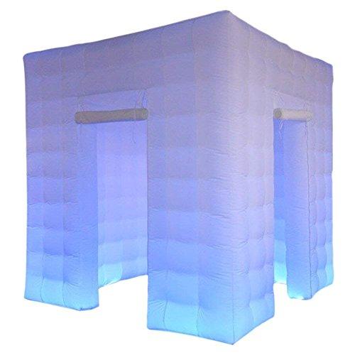 Cabina de fotos inflable portátil Toogou con 17 luces LED multicolores y...
