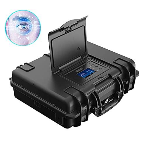 Iris Reconocimiento Facial Contraseña Smart Pistol Safe Box - Se Adapta a Pistola, Pistola, Pasaporte, joyería, Dinero para Coche, hogar