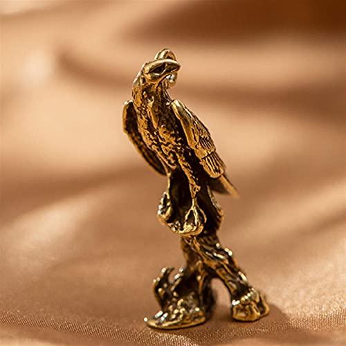 YANJ Estatua de Adorno de águila de latón Retro, Adornos de Oficina en casa, muñeca de águila, Adorno de Escritorio, Regalo